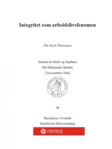 Ole Jacob Thomassens avhandling